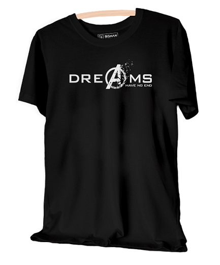 Dreams Have No End Avengers Unisex Half Sleeve T-Shirt