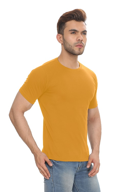 Amber Solid Cotton Men's and Women's T-Shirt