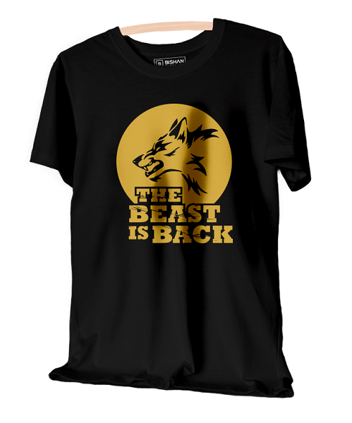 Beast Is Back Unisex Round Neck T-Shirt